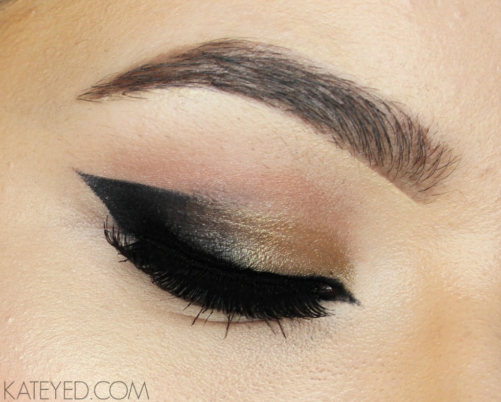 K A T Black And Gold Smoked Out Cat Eye Makeup